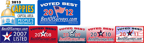 2013 Cappie's Award for People's Preference, Voted Best by BestOfSurveys.com 2007-2012
