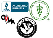 BBB Accredited, AVMA, CVMA, Toledo Veterinary Medical Association