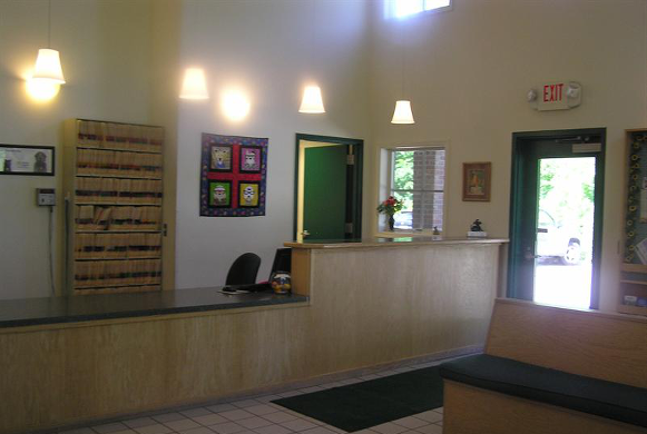Our Lobby and Reception Desk