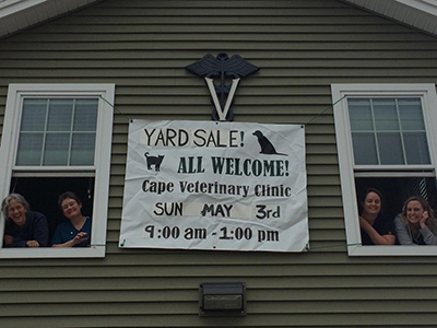 Us and Yard Sale Sign
