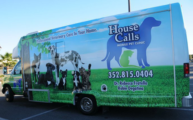 The outside of our Mobile Pet Unit