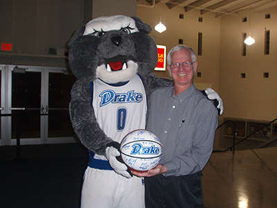 Dr. Anderson and mascot