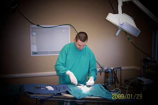 Dr. Rance Erwin performing a procedure