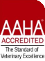 We're accredited by the American Animal Hospital Association