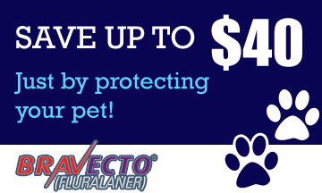 Save up to $40 on Bravecto