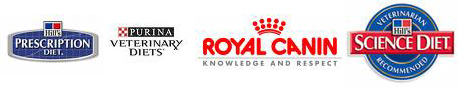 Purina Veterinary Diets, Hill's Prescription Diet, Royal Canin, Hill's Science Diet