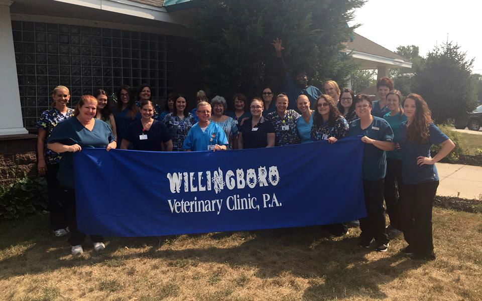 The staff of Willingboro Veterinary Clinic