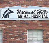 National Hills Animal Hospital sign
