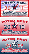 2013 Cappie's Award for People's Preference, Voted Best by BestOfSurveys.com 2011, 2010, 2009