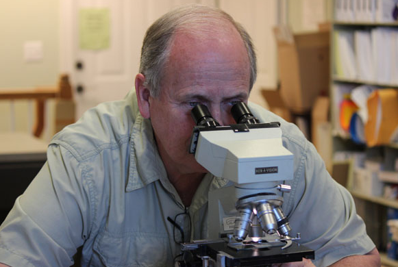 Dr. Joe Howard in the lab