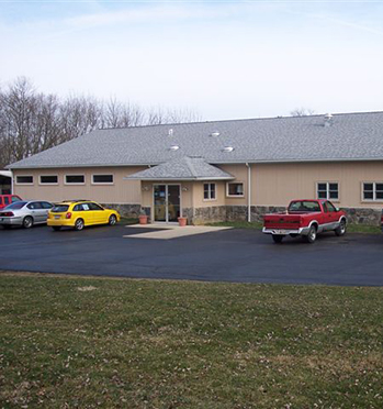 The outside of our veterinary hospital in Athens, OH