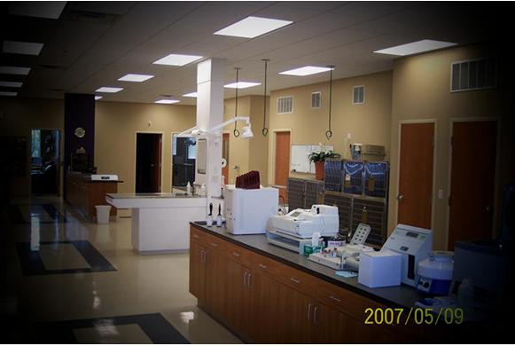 Hospital laboratory equipment