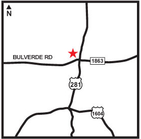 Map of Bulverde Rd and surrounding area
