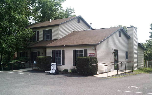The outside of our veterinary hospital in Green Lane, PA