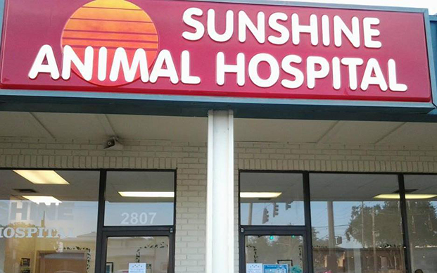 The outside of our veterinary hospital in Clearwater, FL