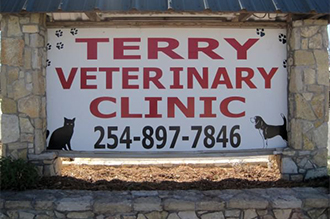 Terry Veterinary Clinic Sign