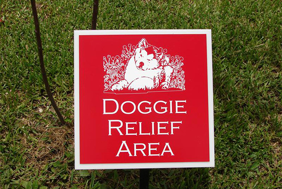 Doggie Relief Area