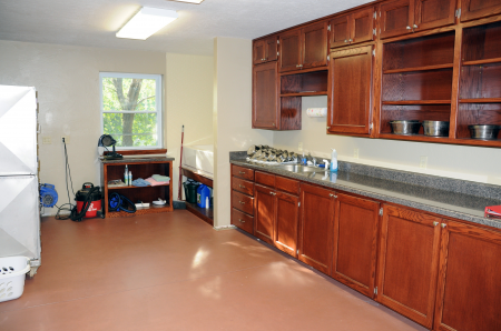 Kitchen, Grooming, and Bathing Area