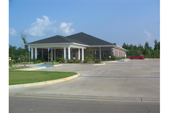 The outside and parking area of our animal hospital