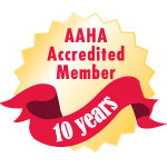 AAHA Accredited 10 Years