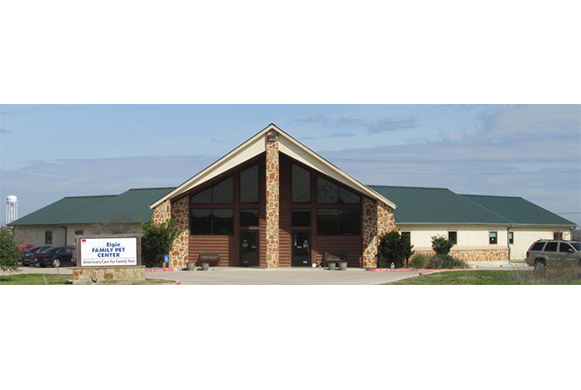 The outside of our Veterinary Center in Elgin, TX