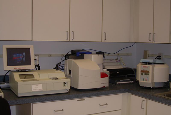 In-house laboratory equipment.