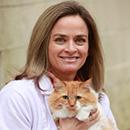 Dr. Burbridge with a cat