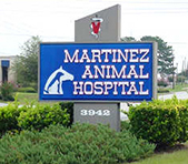 Martinez Animal Hospital sign