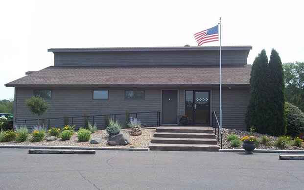 The outside of our veterinary hospital in Osceola, WI