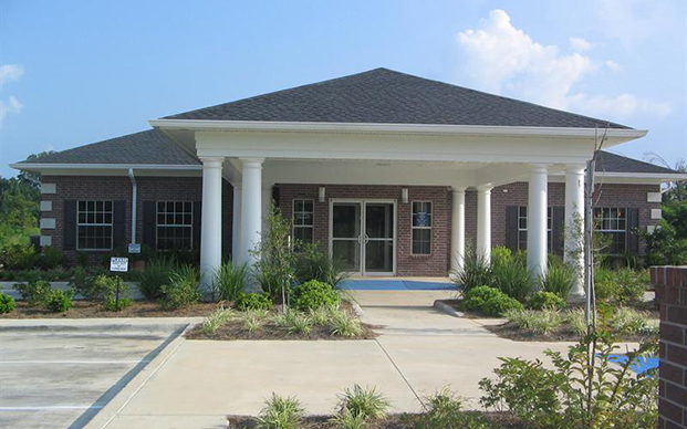 The outside of our animal hospital in West Monroe, LA