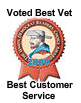 Voted Best Vet | Best Customer Service