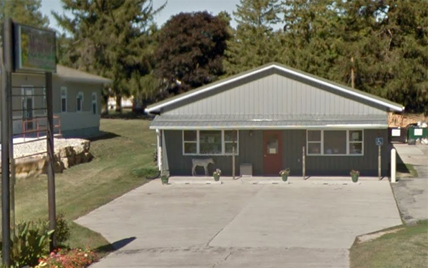 The outside of our veterinary hospital in Montfort, WI