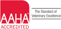 AAHA Logo, [AAHA ACCREDITED | The Standard of Veterinary Excellence]