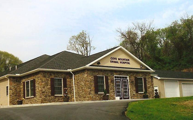 The outside of our veterinary hospital in Duncannon, PA