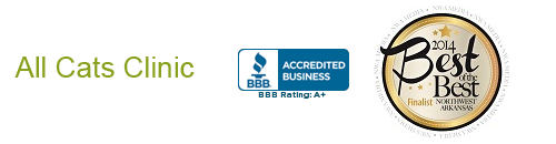All Cats Clinic, BBB Accredited, 2014 Best of the Best Finalist Northwest Arkansas