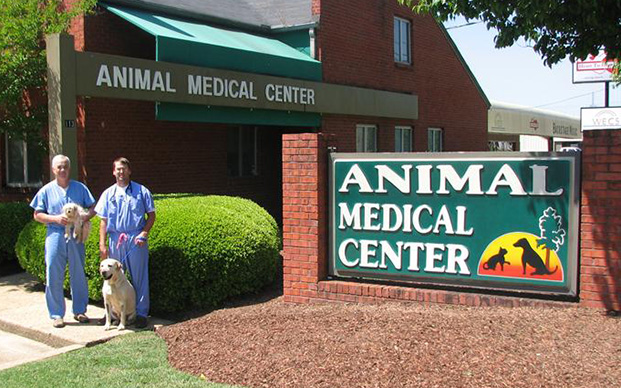 Veterinarians outside of Animal Medical Center in Starkville