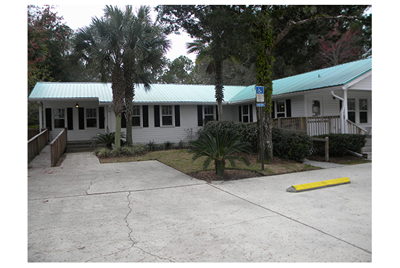 The outside of our veterinary hospital in Yulee FL