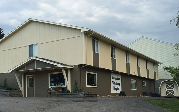 The outside of our veterinary hospital in Morgantown, WV