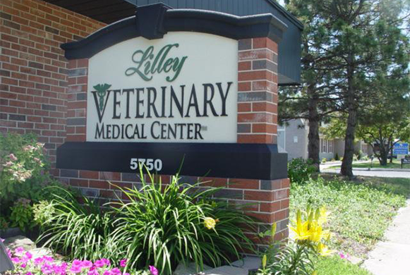 Sign outside of our veterinary hospital
