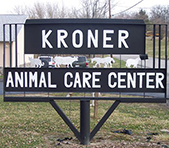 The sign outside of our veterinary hospital