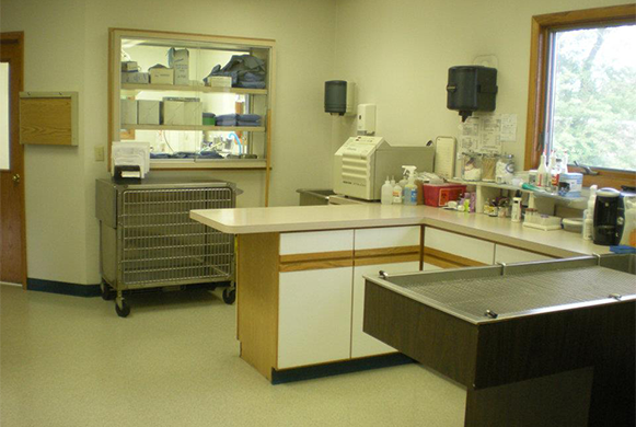Treatment area in the hospital
