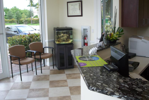 Waiting Area and Reception desk