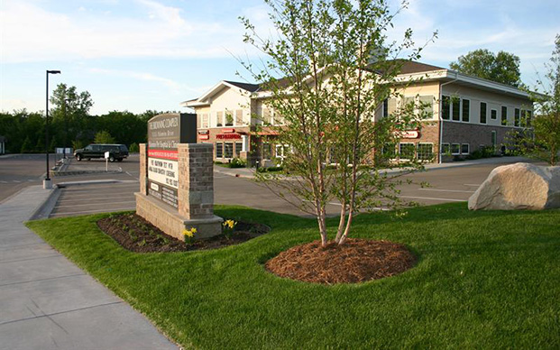 The outside of our veterinary clinic in Apple Valley, MN