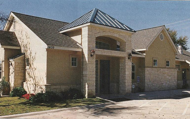 The outside of our Veterinary Hospital in Cedar Park, TX