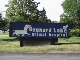 The sign outside of our animal hospital in West Bloomfield, MI