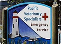 Pacific Veterinary Emergency Service sign