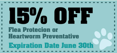 15% Off Flea Protection or Heartworm Preventative
