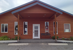 The outside of our hospital in Omak, WA