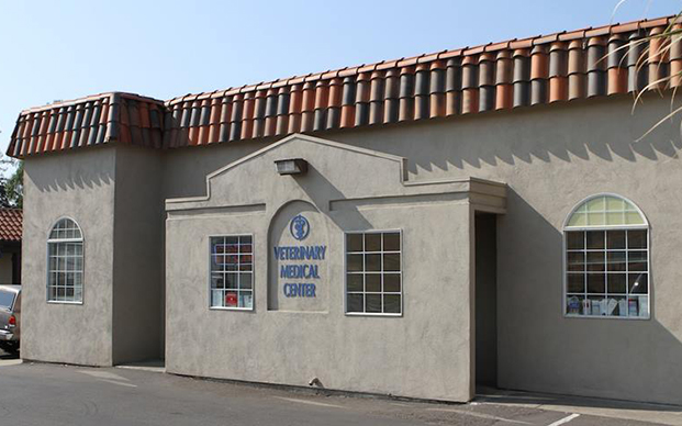 The outside of our veterinary hospital in Union City, CA