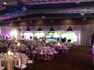 Pipe & Drape with White Sheers